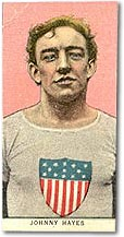 Johnny Hayes Tobacco Card