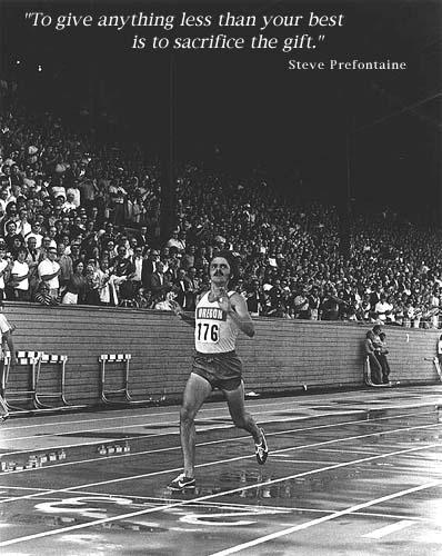Running Past - Steve Prefontaine Poster